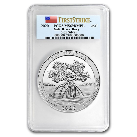 2020 5 oz Silver ATB Salt River Bay MS-69 DMPL PCGS (FS)